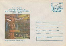 61148- DIESEL SHIP ENGINE, RESITA STEEL FACTORY, COVER STATIONERY, 1981, ROMANIA - Factories & Industries
