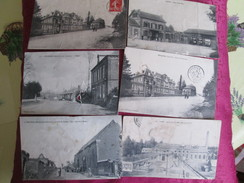 6 BONNES  CARTES DE LA SOMME AVEC DEFAUTS . HAM . DARGNIES.  WARFUSEE. LIGNERES CONTY - Autres Communes