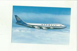 138359 CARTOLINA AEREO OLYMPIC AIRWAYS BOEING 747 200 B JUMBO JET - 1946-....: Moderne