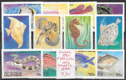 Poisson Hippocampe - Guinée N°659 à 670 1980 ** - Pesci