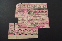 268.Ration Card Fleisch-u. Fettkarte Fur Serien Banat.   Karta Za Meso I Masnoce Za Srbiju/Banat - [ 4] 1933-1945 : Third Reich