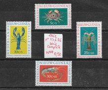 Poisson Crustacé Crabe - Nouvelle-Guinée Néerlandaises N°73 à 76 1962 ** - Crostacei