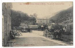 CPA 642 Teissière Drôme Hameau Du Moulin Bureau De Tabac Calèche Personnages Circulée - Autres Communes