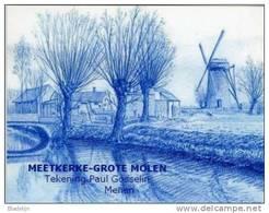MEETKERKE ~ Zuienkerke (W.Vl.) - Molen/moulin - Tekening In Blauw Potlood Van De Grote Molen, Door Paul Gosselin (2006). - Zuienkerke