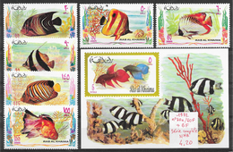 Poisson Aquariophilie - Ras Al Khaima N°80a à 80f, BF N°xx 1972 ** - Poissons