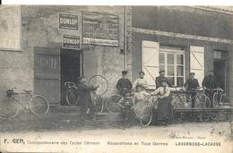 LAVERNOSE LACASSE. F. GEN CONCESSIONNAIRE DE CYCLES CLEMENT. DEVANTURE - Autres Communes