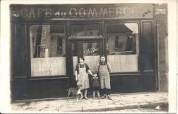 CARTE PHOTO DEVANTURE CAFE DU COMMERCE. RUE DU GENERAL DONZELOT - Neuilly Sur Marne