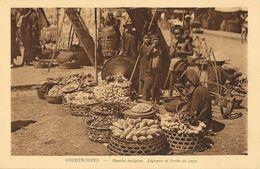 Viet-Nam, Cochinchine - Marché Indigène, Légumes Et Fruits Du Pays - Edition Nadal, Saïgon - Carte Non Circulée - Viêt-Nam