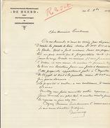 Courrier De Heerd Te Geraardsbergen En 1928 - Bélgica