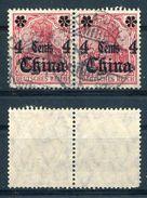 Deutsche Auslandspostämter China Michel-Nr. 30 Paar Vollstempel - Offices: China