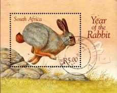 South Africa - 1999 Year Of The Rabbit MS (o) # SG 1111 , Mi Block 73 - Usati