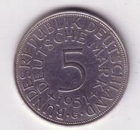 Lot N° 205 -  1 Pièce De 5 Deutsche Mark  1951 Argent - [ 6] 1949-1990 : RDA - Rép. Démo. Allemande