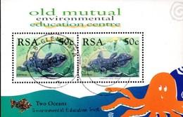 South Africa - 1997 Two Oceans Aquarium Coelacanth MS (o) # Mi Block 57 - Afrique Du Sud (1961-...)
