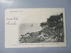 CPA 85 NOIRMOUTIER LA COTE ET LE BOIS DE LA CHAISE - Noirmoutier