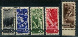 Y474 SOWJETUNION - Mi.Nr. 494-498, Mit Falz / Hinged  (497 = Postfrisch / Mnh) - Ongebruikt