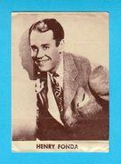 HENRY FONDA - Usa Film Actor ***  Yugoslavian Vintage Trading Card Issued 1960's  RRR - Cinema & TV