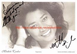 Michele Crider Opera Signed Photo 15x21cm - Autographes