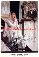 Paoletta Marrocu Opera Signed Photo 13x19cm -Tosca - Teatro Regio Di Torino - Autographes