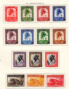 1942-44   Palmier, Indigène, Guerre, Croix-Rouge), Etc, 126 / 153*, Cote 31 € - Ruanda-Urundi