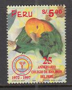 BIRDS Vogel Oiseaux 1997 Peru Biology College Mi 1595 MNH (**) #6040 - Oiseaux