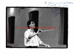 Massimo Zanetti Opera Signed Photo 17,5x24cm - Autographes