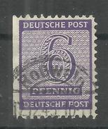 """Sowjetische Zone 117BXa """"6 Pfg.Briefmarke Aus Satz Gezähnt L 11 1/4- 11 1/2"""" Gestempelt Roßwein Mi.:130,00 € - Zone Soviétique"""