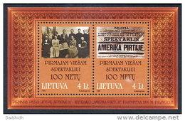 LITHUANIA  1999 Theatre Centenary Block MNH / **.  Michel  Block 16 - Lithuania
