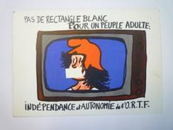 Jean  EFFEL  :  Pas De Rectangle Blanc Pour Un Peuple Adulte   1968   - Effel