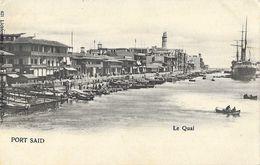 Egypte, Port Saïd - Port, Le Quai - Edition Lichtenstern - Carte Dos Simple, Non Circulée - Port Said