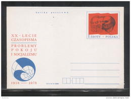 POLAND PC 1978 20 YEARS OF PROBLEMS OF PEACE & SOCIALISM PUBLICATION MINT LENIN MARX ENGELS COMMUNISM - Lenin