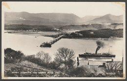 Menai Straits And Garth Pier, Bangor, Caernarvonshire, 1959 - Valentine's RP Postcard - Caernarvonshire