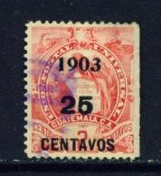 GUATEMALA  -  1903  Surcharge  25c On 2c  Used As Scan - Guatemala