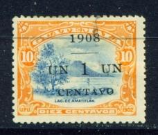 GUATEMALA  -  1908  Surcharge  1c On 10c  Used As Scan - Guatemala