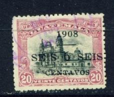 GUATEMALA  -  1908  Surcharge  6c On 20c  Used As Scan - Guatemala