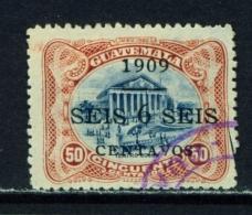 GUATEMALA  -  1909  Surcharge  6c On 50c  Used As Scan - Guatemala