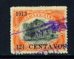 GUATEMALA  -  1913  Surcharge  121/2c On 2p  Used As Scan - Guatemala