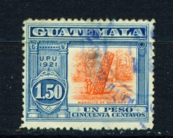 GUATEMALA  -  1919  GPO Rebuilding Fund  1p50  Used As Scan - Guatemala