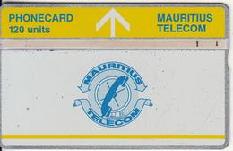 MAURITIUS(L&G) - Telecom Logo 50 Units(yellow Band & Yellow Line), CN : 709D, Tirage 8000, Used - Mauritius