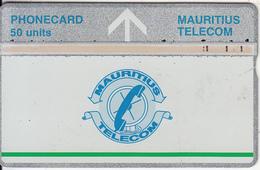 MAURITIUS(L&G) - Telecom Logo 50 Units(silver Band & Green Line), CN : 709D, Tirage 20000, Used - Mauritius