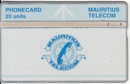MAURITIUS(L&G) - Telecom Logo 20 Units(silver Band & Blue Line), CN : 709D, Tirage 15000, Used - Maurice