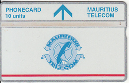 MAURITIUS(L&G) - Telecom Logo 10 Units(silver Band & Red Line), CN : 709D, Tirage 5000, Used - Mauritius