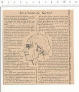 Coupure De Presse 1903 - Petite Histoire Cocasse Sur Le Crâne De Bichat (Marie François Xavier) Médecin   198CH4 - Old Paper
