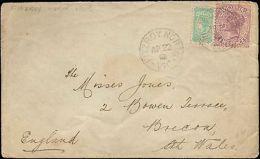 1903 VICTORIA AUSTRALIA MULTI STAMP TO ENGLAND - Postmark Collection