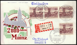 Germany Mainz 1962 / 2000 Jahre Mainz / 2000 Years Of Mainz Town / Castle, Church, Soldiers - [7] Federal Republic
