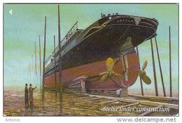 "JERSEY ISL. - Boat, ""Stella"" Under Costruction, CN : 72JERA(normal 0), Tirage 25000, Used - United Kingdom"