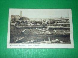 Cartolina Lavorazioni Boschive - Legnami Da Lavoro 1930 Ca - Cartoline