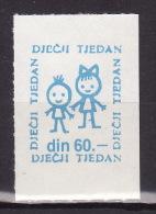 YUGOSLAVIA 1987. Children´s Week, For Croatia, MNH (**):VF - Bienfaisance