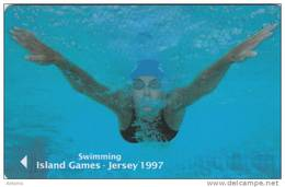 JERSEY ISL. - Island Games Jersey 1997/Swimming, CN : 53JERA(normal 0), Tirage 15000, Used - United Kingdom