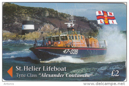 JERSEY ISL. - St.Helier Lifeboat/Alexander Coutanche, CN : 46JERC(0 With Barred), Tirage %25000, Used - United Kingdom