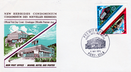 New Hebrides, New Post Office, 1974,  Superb FDC Cover, A Pair - French Legend
